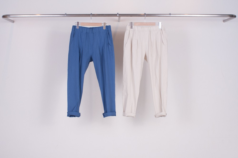 tapered relax pants (pin stripes)