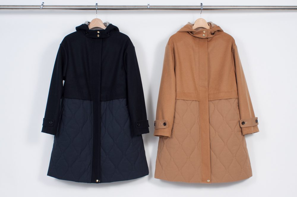 West switching quilted coat (plain)