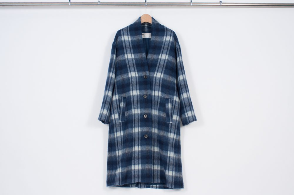 Gown coat (blue check)