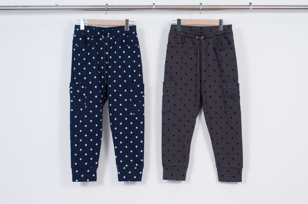 6 pocket sweat pants (polka dots)