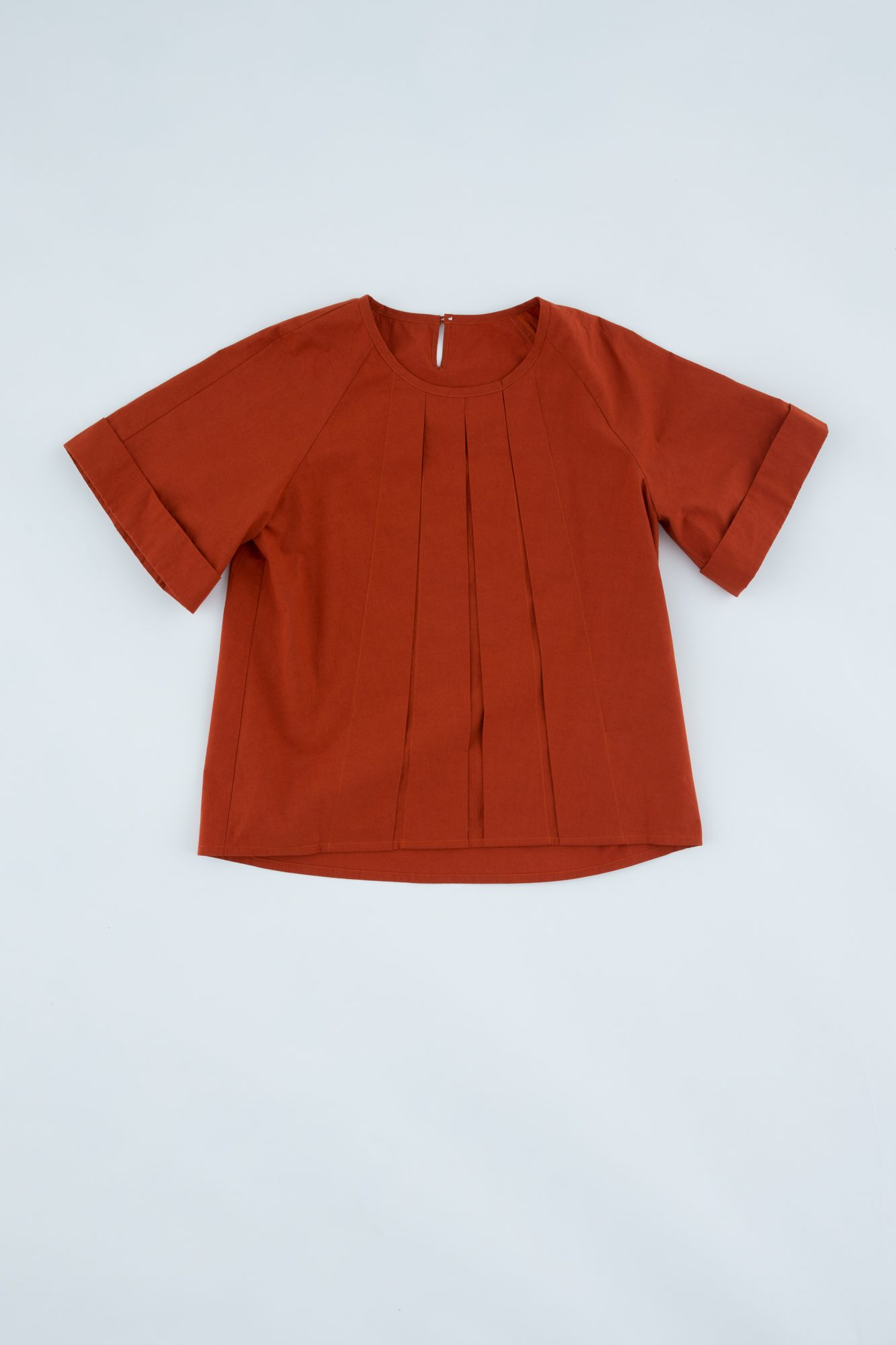 Front pleated blouse
